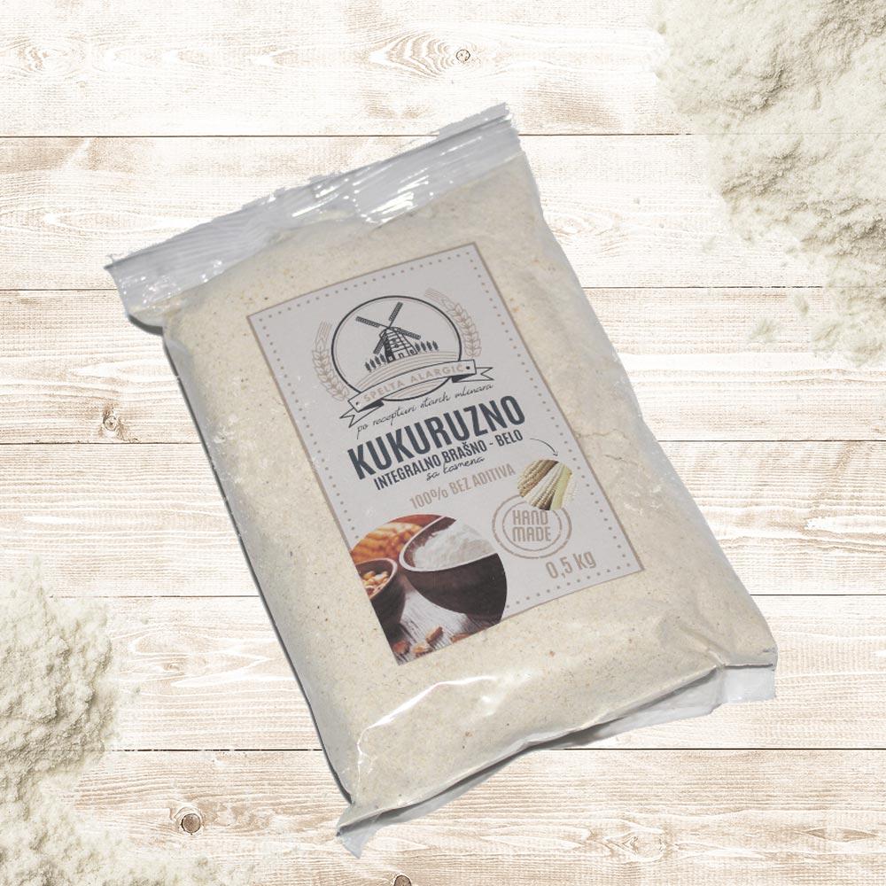 Kukuruzno belo integralno brašno 0.5kg