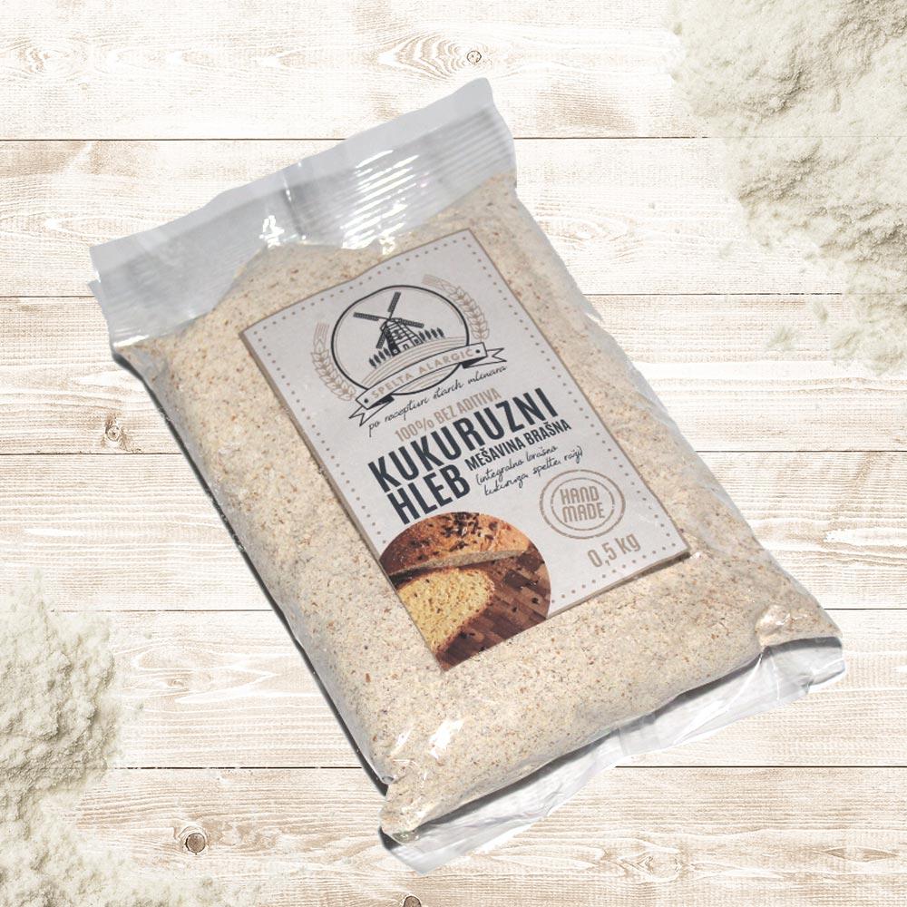 Kukuruzni hleb mešavina brašna 0.5kg